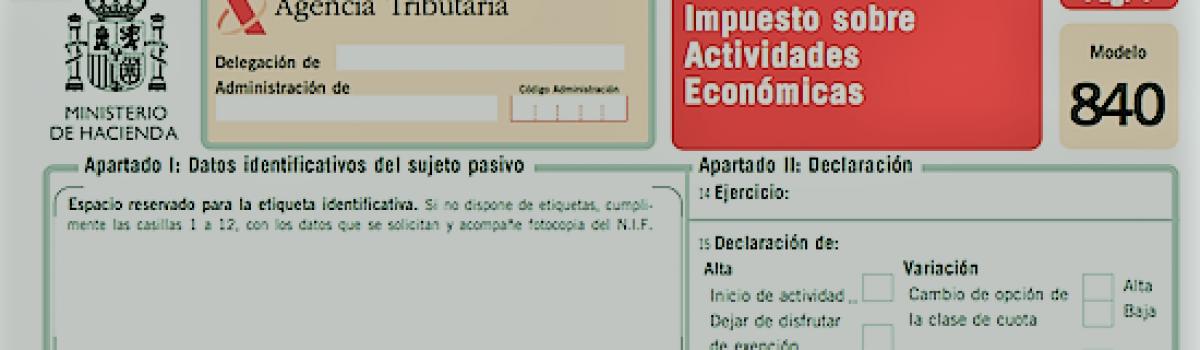 IAE Impost sobre activitats econòmiques.